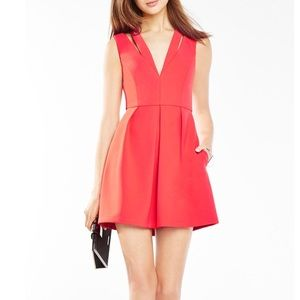 BCBG MaxAzria Clayre Double-Strap Pleated Dress